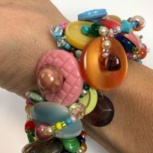 Jewelry - Handmade Button Bracelet multicolored